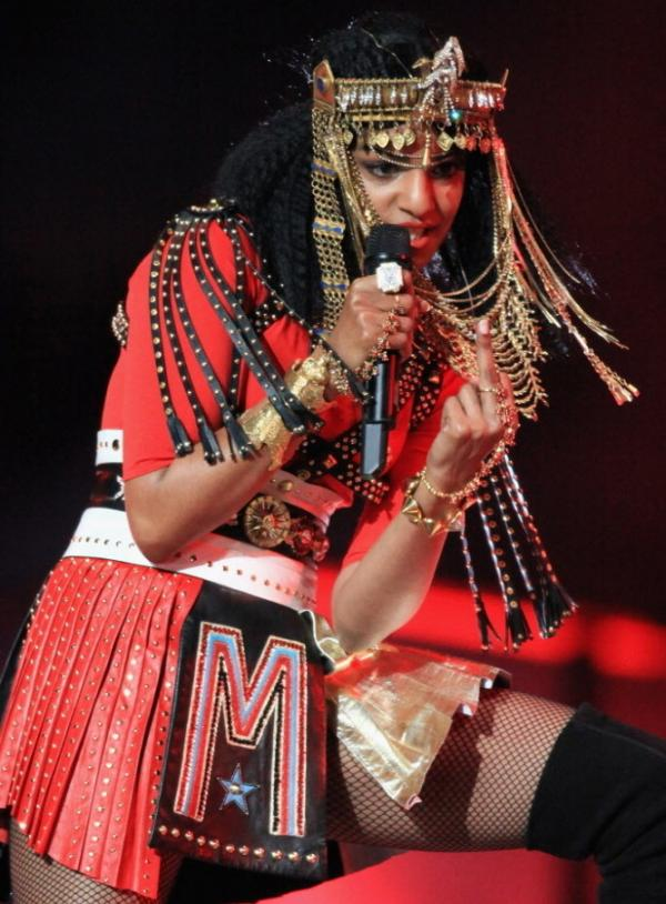 M.I.A.'s now famous finger during halftime of the Super Bowl.
