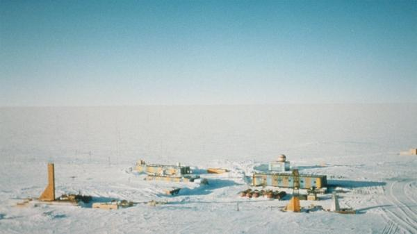 The Lake Vostok drilling site in 2001.
