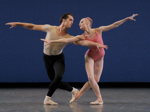 Jared Angle and Janie Taylor perform in George Balanchine's Symphony in Three Movements.