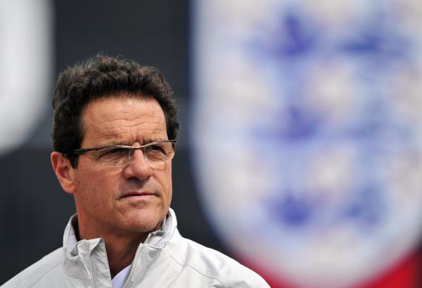 England's Italian manager Fabio Capello attends a training session at London Colney, England in May of 2011.