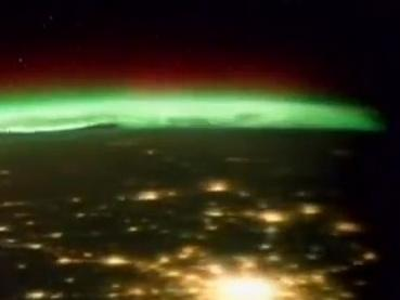 The Northern Lights as seen from space.
