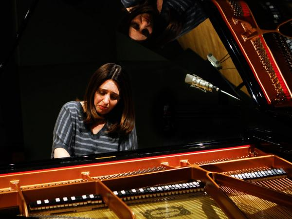 "Simone Dinnerstein, at NPR's Studio 4A, plays <em>The Cohen Variations</em>, a new piece based on Leonard Cohen's song ""Suzanne."""
