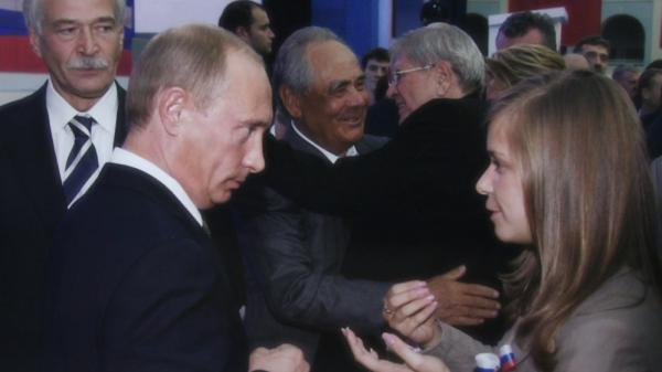 The documentary <em>Putin's Kiss</em> charts four years in the life of Masha Drokova, who became famous as the girl who publicly kissed Vladimir Putin.