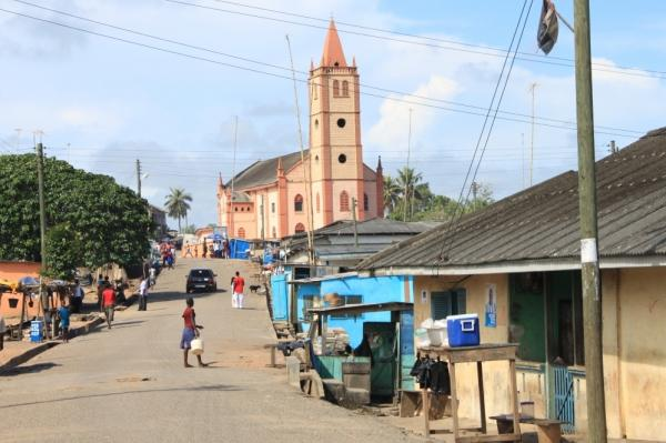 Main Street in Otuam, Ghana