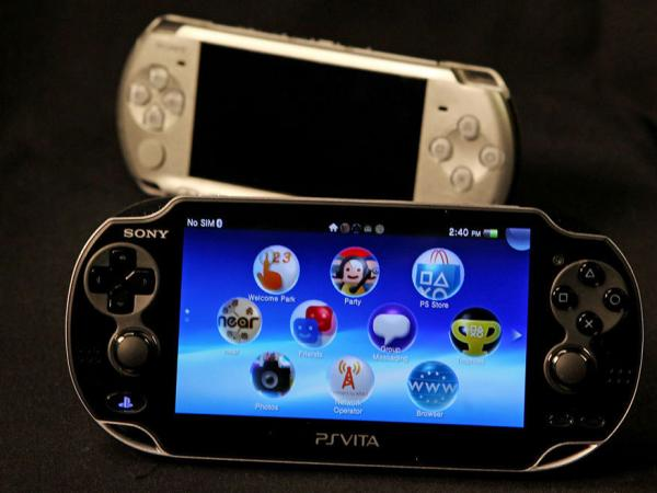 Sony's PlayStation Vita and its predecessor, The PlayStation Portable.
