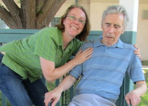 The last photo taken of Joy (left) and her father, Patrick, in July 2011.