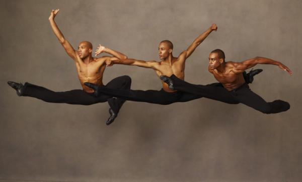 Members of the Alvin Ailey American Dance Theater perform <em>Revelations, </em>a piece set to gospel spirituals that Ailey choreographed when he was 29.