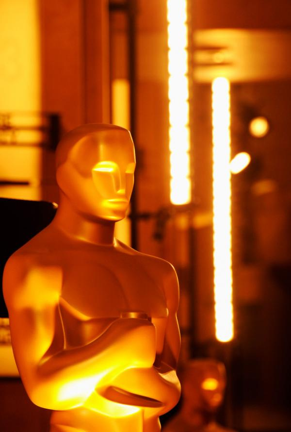 The Oscar statue is seen at the entrance of the Hollywood & Highland Center before the 84th Annual Academy Awards.