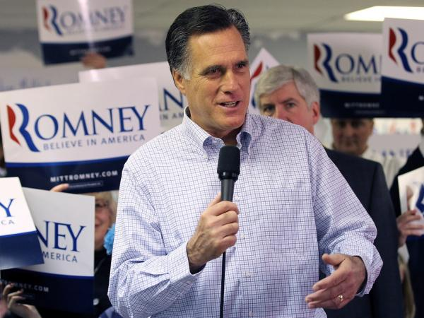 Following a visit to his Michigan campaign headquarters on Feb. 28, Mitt Romney told reporters that Republican voters should choose the party's nominee.