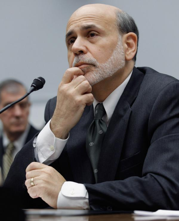Federal Reserve Chairman Ben Bernanke during his congressional testimony today.