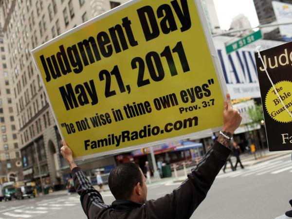 New York City, May 13: Some believers expressed their views on the streets of Manhattan.