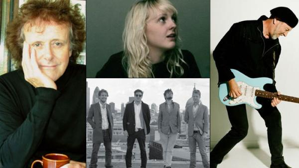 <p>Clockwise from left: Donovan, Laura Marling, Richard Thompson, Mumford & Sons.</p>