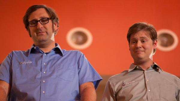 Eric Wareheim (left) and Tim Heidecker apply their boundary-pushing style of sketch comedy to the long-form narrative when they play fictionalized versions of themselves who must find a way to raise a billion dollars in <em>Tim & Eric's Billion Dollar Movie</em>.