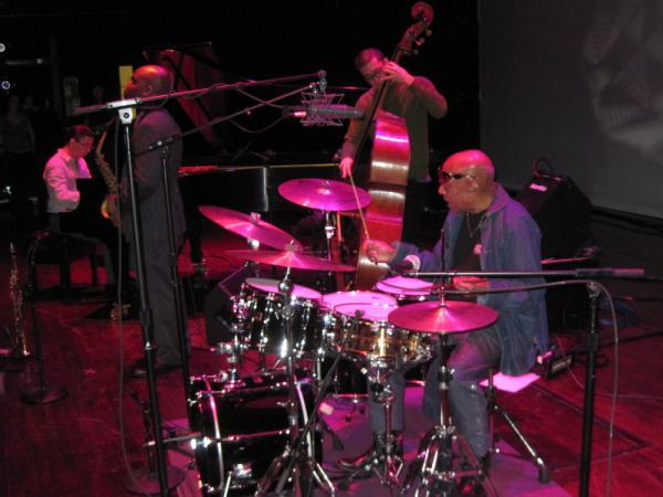 Roy Haynes' Fountain of Youth Band during sound check.