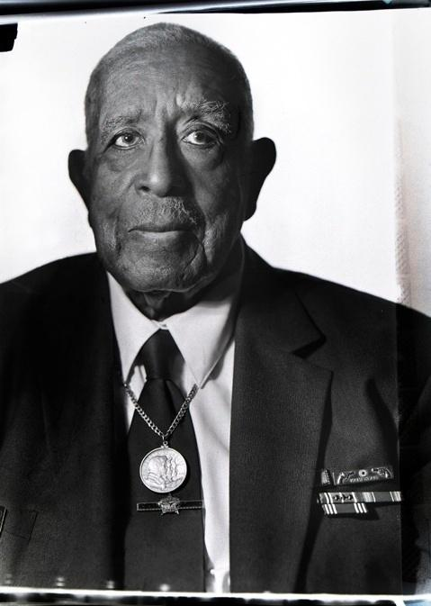 One of the most recent photographs taken with Manarchy's prototype camera is a portrait of Virgil Poole, one of the original Tuskegee Airmen, age 91.