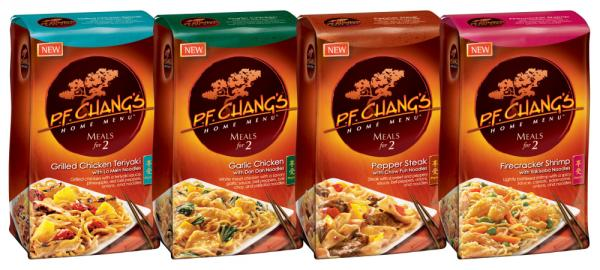 P.F. Chang's Home Menu, a line of premium frozen entrees inspired by best-selling recipes at P.F. Chang's China Bistro.