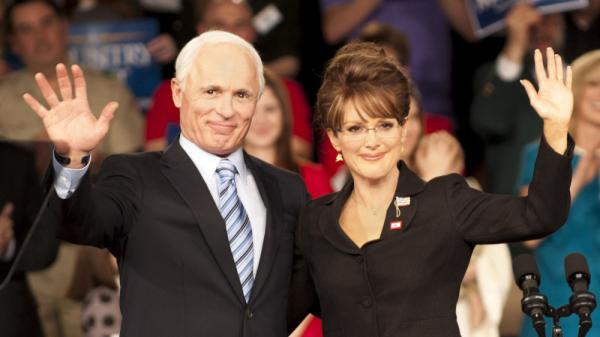 Ed Harris and Julianne Moore star as Arizona Sen. John McCain and Alaska Gov. Sarah Palin in the HBO made-for-TV movie <em>Game Change</em>, based on a book by John Heilemann and Mark Halperin about the 2008 presidential race.