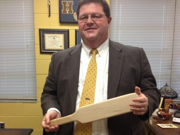 Holmes County High School Principal Eddie Dixson says paddling is used for minor offenses like back-talking or consistent tardiness. Students at the school are spanked only by Dixson or the assistant principal, and there is always a witness.