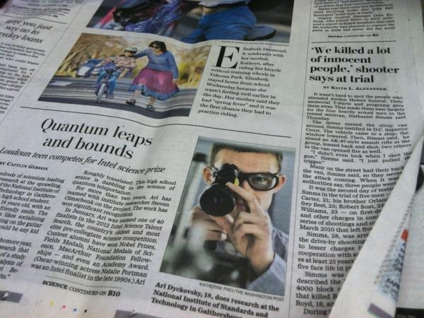 <em>The Washington Post</em> Metro section for March 9, 2012 shows two stories, side by side, of two very different men.
