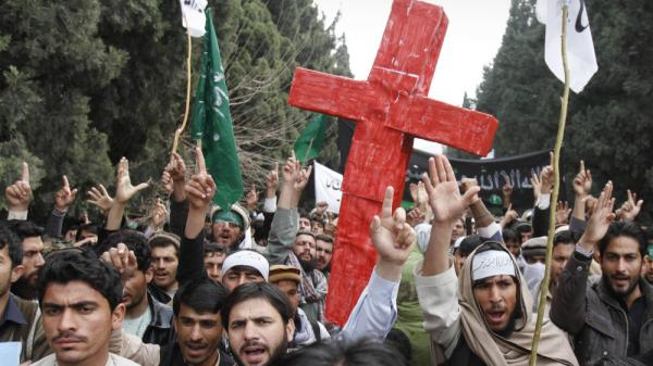 The Afghan response to Sunday's shooting deaths of 16 Afghan civilians has been limited compared with the recent outrage over the burning of Qurans. In one of the few protests, demonstrators chanted anti-U.S. slogans in the eastern city of Jalalabad on Tuesday.