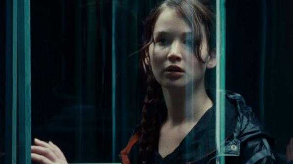 Jennifer Lawrence as Katniss Everdeen in <em>The Hunger Games</em>.