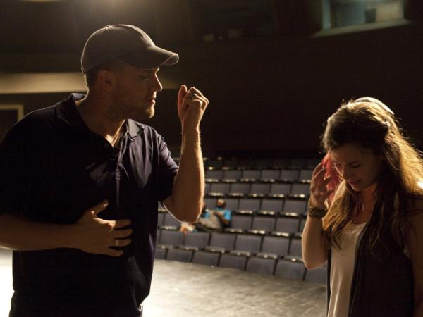 <em>October Baby </em>co-director Jon Erwin speaks to lead actress Rachel Hendrix.