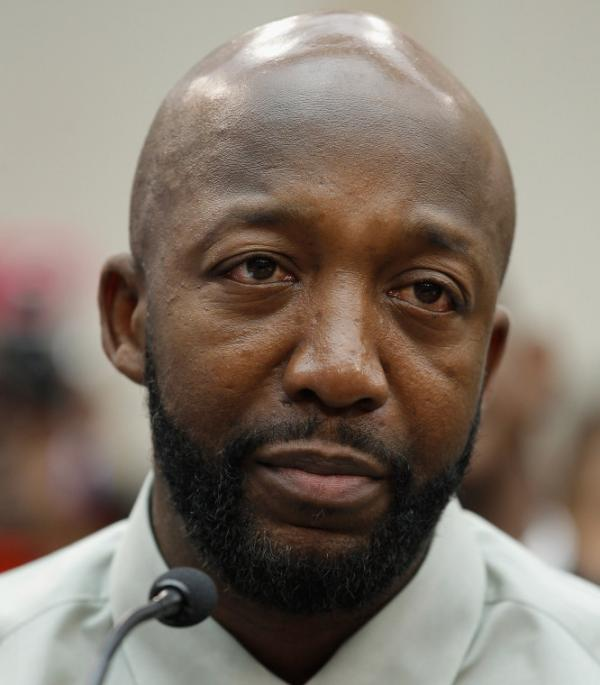 Tracy Martin, Trayvon Martin's father, at a forum held Tuesday on Capitol Hill.