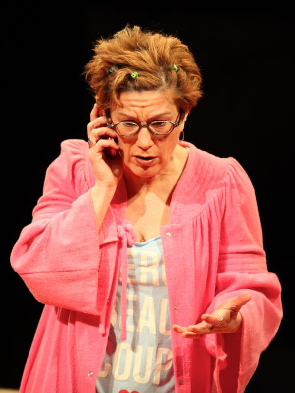 Playwright Lisa Kron performs her new work, <em>The Veri**on Play. </em>It's a bitter satire on the tangles of automated customer service.