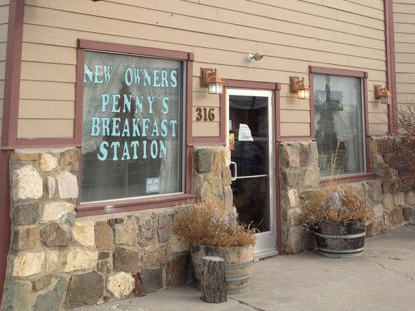 Penny's Breakfast Station in Townsend, Mont., bustles on the weekends.