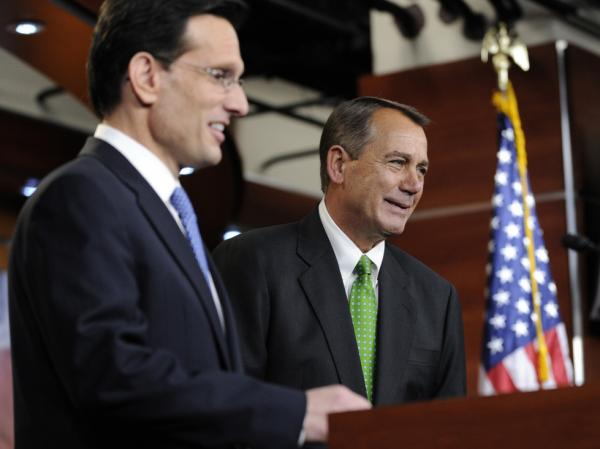 House Republicans, including Speaker John Boehner (right) and Majority Leader Eric Cantor (left), said Monday they would vote to extend the payroll tax cut.