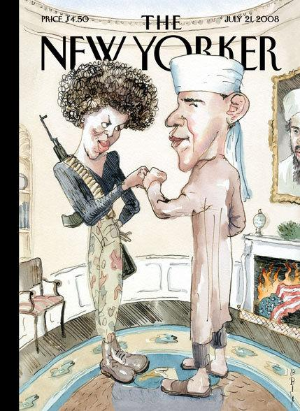 "Barry Blitt's controversial ""Politics of Fear"" ran on the cover of <em>The New Yorker </em>in July 2008. ""It was obviously taking a chance,"" Blitt says."
