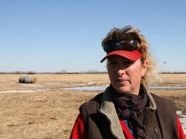 Luebbe says she worries the pipeline would ruin her land.
