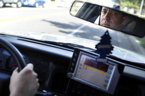 Max DeBarros drives his Metro Taxi in Denver. Police credit him with helping crack a hit-and-run case by recording and reporting the license plate number of the truck involved.