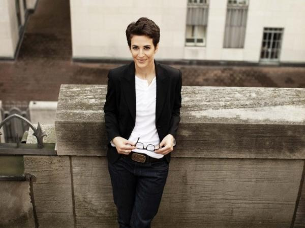 Rachel Maddow hosts the nightly news talk show <em>The Rachel Maddow Show</em> on MSNBC.