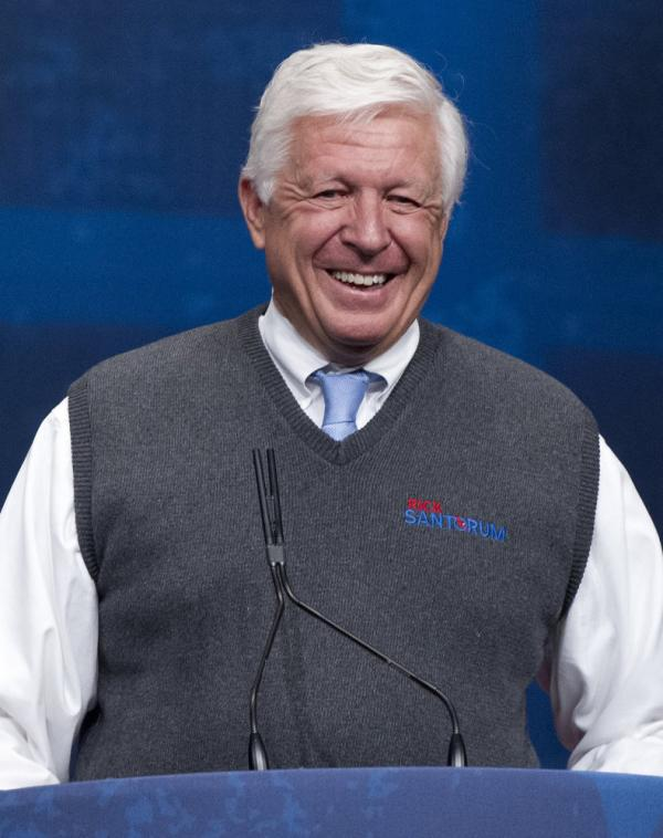 Foster Friess introduces former Sen. Rick Santorum at the 2012 Conservative Political Action Conference in Washington, D.C.