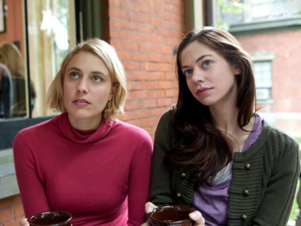 In <em>Damsels in Distress</em>, Greta Gerwig (left) plays high-minded, take-charge coed Violet — who invites transfer student Lily (Analeigh Tipton) into a set of friends whose mission it is to cheer up the depressed and improve the socially lacking.