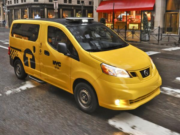 Nissan's NV200 taxi model features expanded headroom and passenger USB chargers.