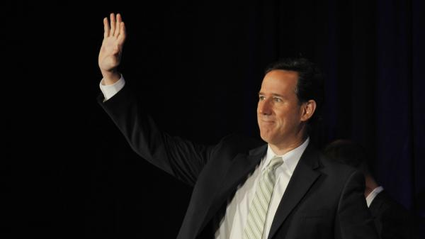 "After Mitt Romney's sweep Tuesday of primaries in Wisconsin, Maryland and Washington, D.C., Rick Santorum declared: ""It's halftime"" in the race for the GOP nomination. Santorum is shown here at a March 31 event in Pewaukee, Wis."