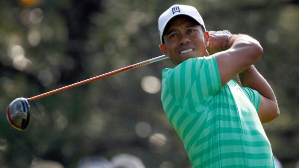 Tiger Woods, teeing off during a practice round at Augusta National on Thursday.
