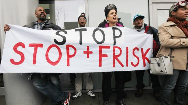 Opponents of the New York Police Department's controversial stop-and-frisk policy rally on Jan. 27 in the Bronx borough of New York City.