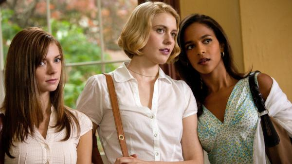 College do-gooders Heather (Carrie MacLemore), Violet (Greta Gerwig) and Rose (Megalyn Echikunwoke) take it upon themselves to improve the lives of everyone around them — including those smelly frat boys — at their fictional upper-crust school.