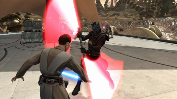 You can battle with lightsabers in the new game <em>Kinect Star Wars</em>.