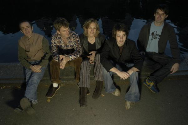 The band on Ingrid Jensen's <em>At Sea</em> includes (left to right) Geoffrey Keezer, Jon Wikan, Jensen, Lage Lund and Matt Clohesy. Jensen and Wikan are married.