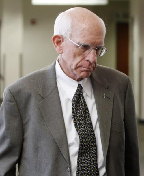 Former Arapahoe County Sheriff Patrick Sullivan before a court hearing last month.