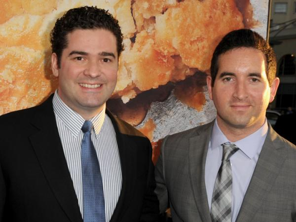 <em>Harold and Kumar </em>directors Jon Hurwitz and Hayden Schlossberg arrive at the premiere of <em>American Reunion</em> at Grauman's Chinese Theatre on March 19 in Hollywood, Calif.