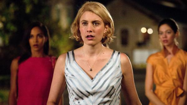 """Greta Gerwig (center) tells NPR's Robert Siegel that she doesn't mind being called """"Hollywood's indie darling"""" — as long as she can keep making movies the way she wants."""
