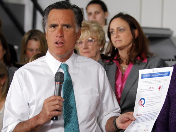 Mitt Romney must now appeal to voters beyond his party's base. On Wednesday, he criticized President Obama's record on women in the workforce during a campaign stop in Hartford, Conn.