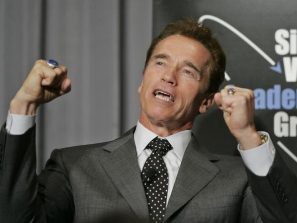 Former California Gov. Arnold Schwarzenegger, seen here in 2007, once rescued a swimmer in distress.