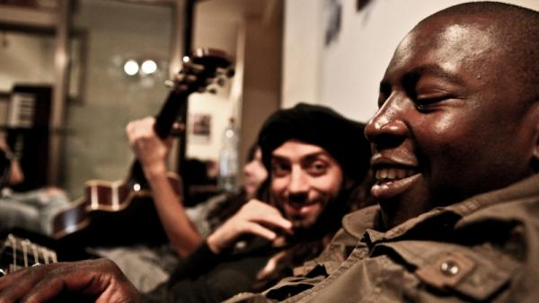 Idan Raichel (left) and Vieux Farka Toure's new collaborative album is  <em>The Tel-Aviv Session.</em>