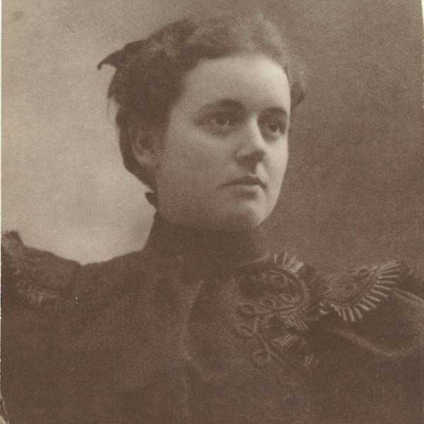 Grace Shanks, Jo Anne's grandmother, posed for this photo on the day of her wedding to Joseph McCutchan. At this time in the early 1900s, they lived in Missouri.